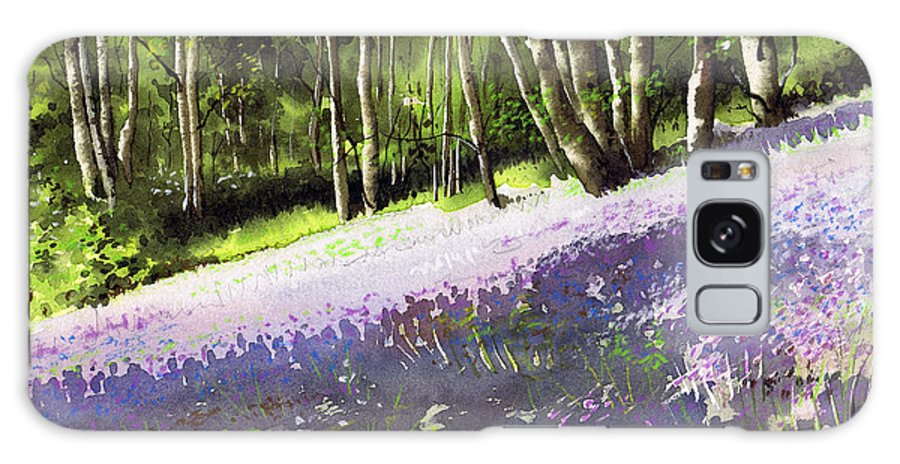 Wood Galaxy S8 Case featuring the painting Bluebell Wood by Paul Dene Marlor