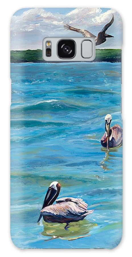 Pelicans Galaxy S8 Case featuring the painting Boating In Fort Myers by Kathleen Heese