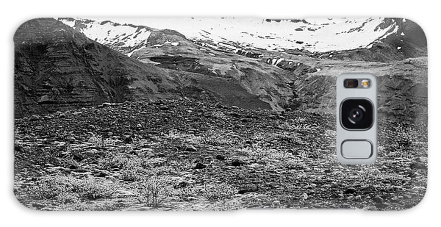 Skaftafell Galaxy S8 Case featuring the photograph bushes and mosses growing on Skaftafell glacier end moraine Vatnajokull national park in Iceland by Joe Fox