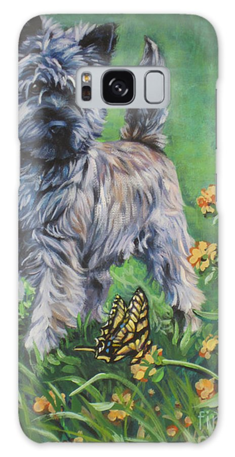 Cairn Terrier Galaxy S8 Case featuring the painting Cairn Terrier by Lee Ann Shepard