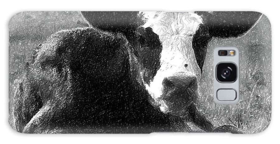 Calf Galaxy S8 Case featuring the digital art Calf by Nadezhda Zhuravleva