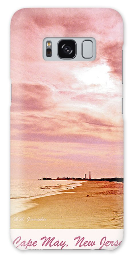 Sunset Galaxy S8 Case featuring the photograph Cape May New Jersey, Sunset With Lighthouse In The Distance by A Gurmankin