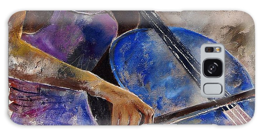 Music Galaxy S8 Case featuring the painting Cello Player by Pol Ledent