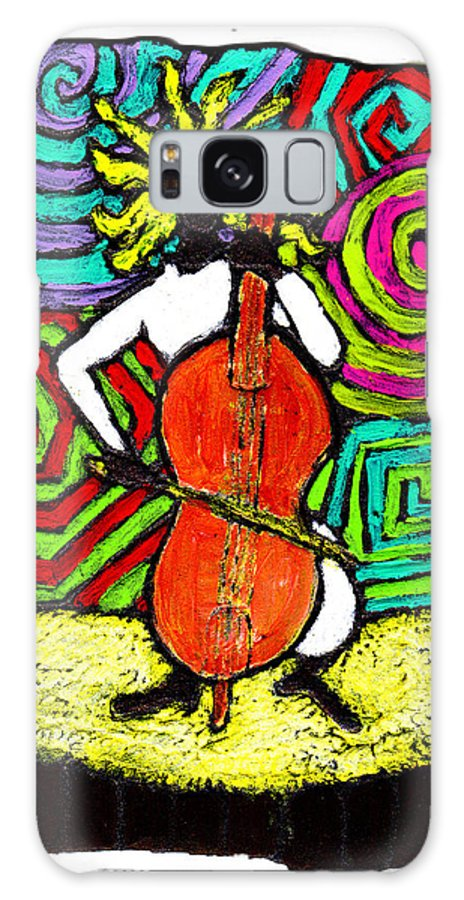 Music Galaxy Case featuring the painting Cello Soloist by Wayne Potrafka