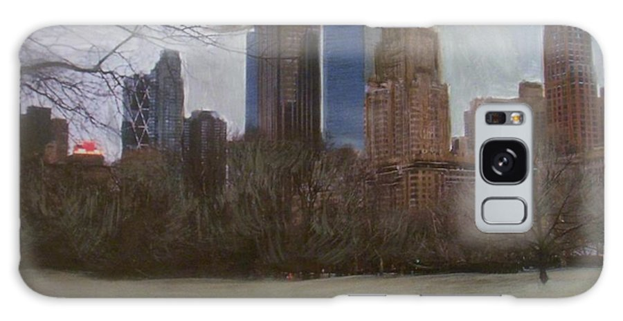Central Park Galaxy S8 Case featuring the painting Central Park by Anita Burgermeister