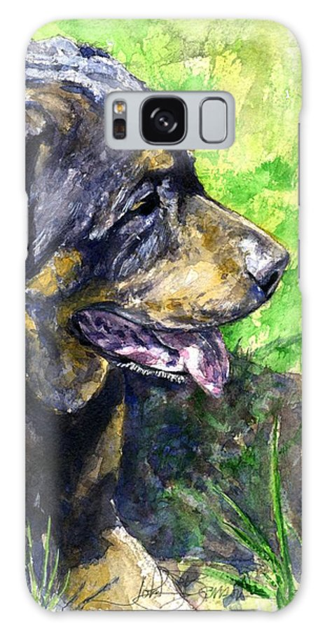 Rottweiler Galaxy Case featuring the painting Chaos by John D Benson