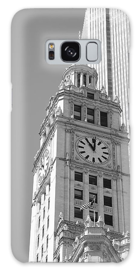 America Galaxy S8 Case featuring the photograph Chicago Clocktower by Frank Romeo