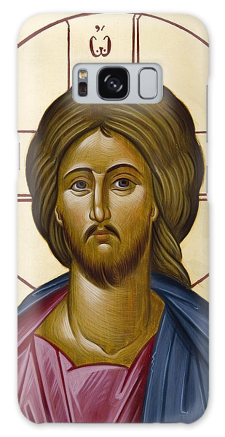 Icon Galaxy S8 Case featuring the painting Christ Pantokrator by Julia Bridget Hayes