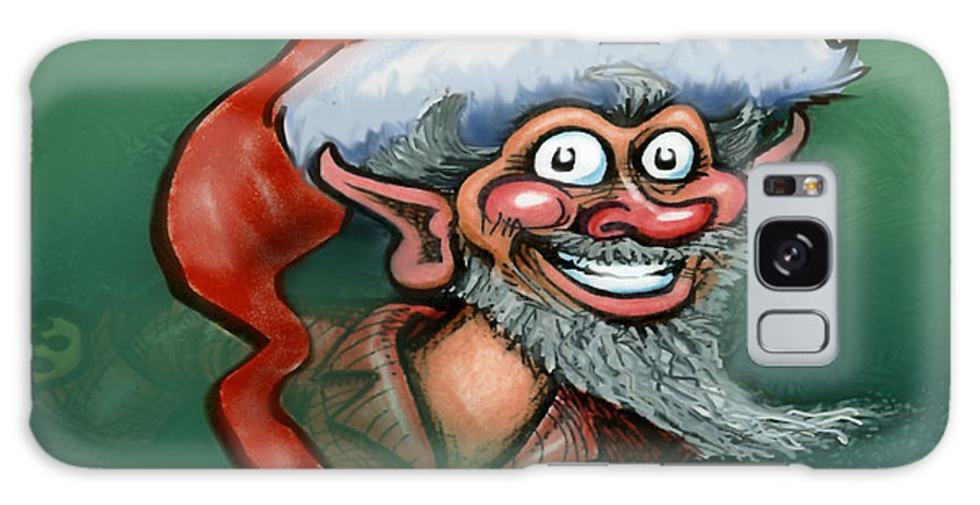 Elf Galaxy S8 Case featuring the digital art Christmas Elf by Kevin Middleton