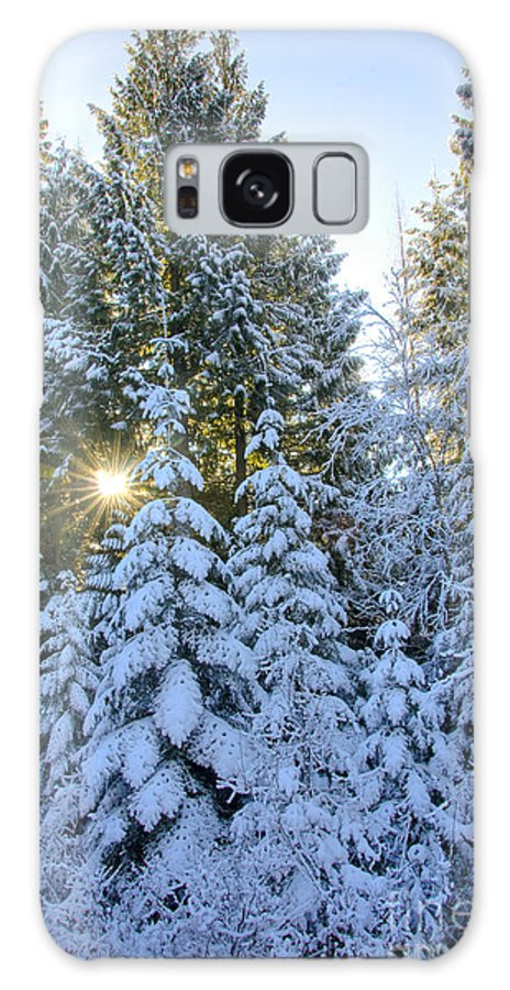 Coeur D'alene Mountains Galaxy S8 Case featuring the photograph Christmas Morning by Idaho Scenic Images Linda Lantzy