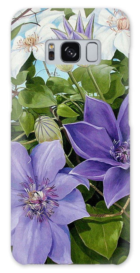 Clematis Galaxy S8 Case featuring the painting Clematis 2 by Jerrold Carton