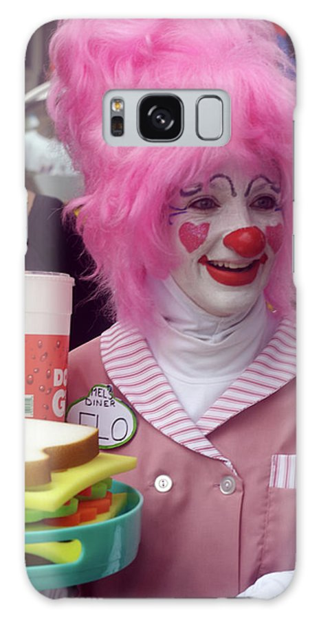 Female Galaxy S8 Case featuring the photograph Clown With Pink Hair by Carl Purcell