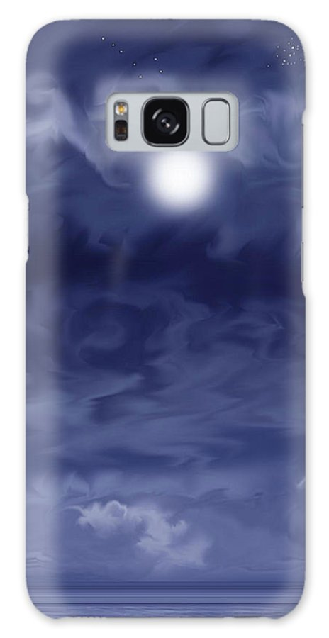 Moon Galaxy Case featuring the painting Cobalt by Anne Norskog