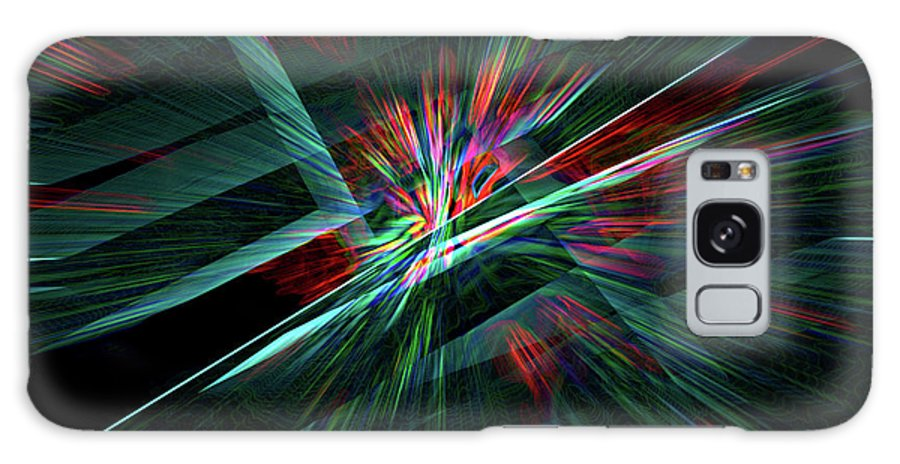 Abstract Galaxy S8 Case featuring the digital art Color Burst by Chris Brannen