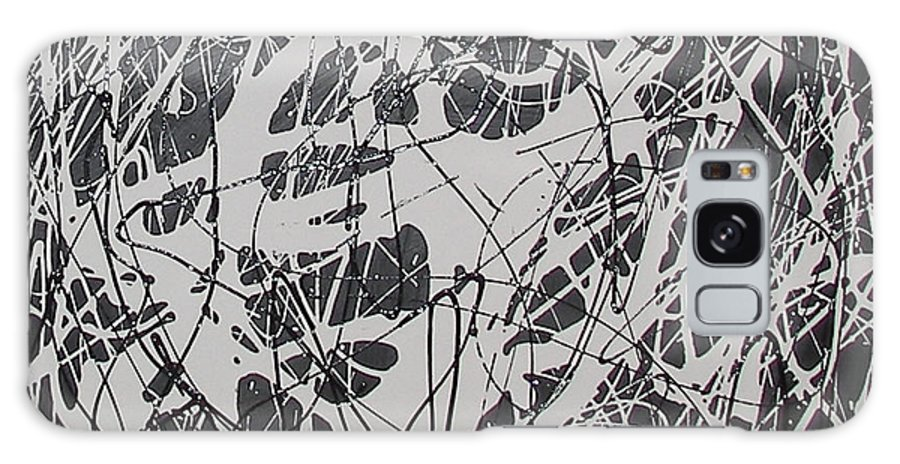 Abstract Galaxy Case featuring the painting Complexity Of A Web by Bojana Randall