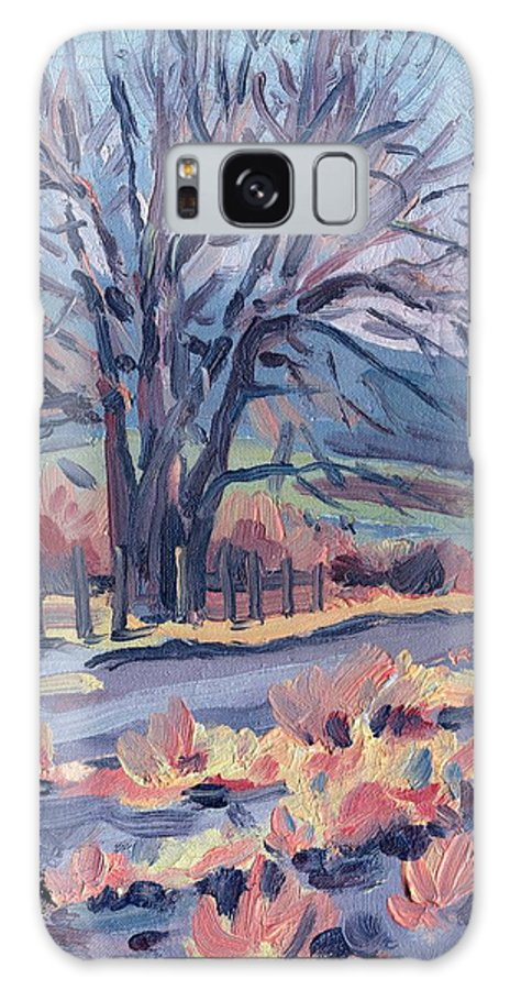 Road Galaxy S8 Case featuring the painting Country Road by Donald Maier