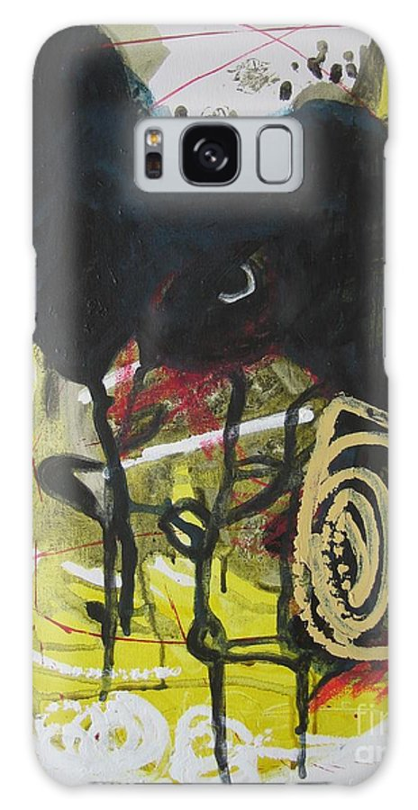 Abstract Paintings Galaxy S8 Case featuring the painting Crescent2 by Seon-Jeong Kim