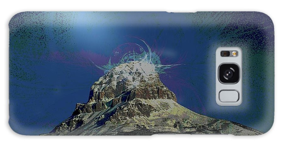 Abstract Galaxy S8 Case featuring the photograph Crowsnest Mountain by Jeff Swan