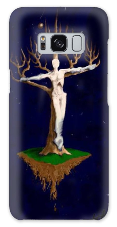 Religious Galaxy S8 Case featuring the digital art Crucifix by Steve Hester