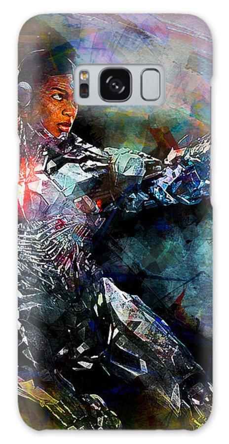 Batman Galaxy S8 Case featuring the digital art Cyborg by Anna J Davis