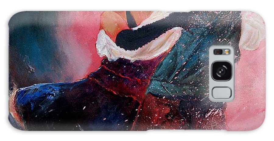 Music Galaxy Case featuring the painting Dancing Tango by Pol Ledent