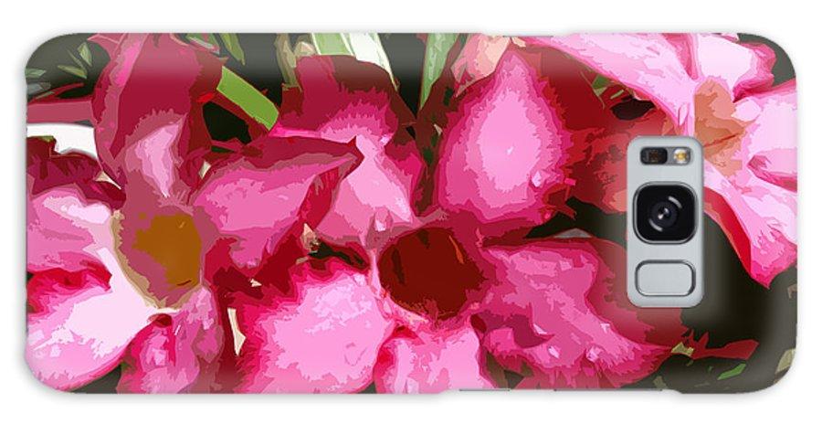 Desert Rose Galaxy S8 Case featuring the painting Desert Rose  Adenium Obesum by Allan Hughes