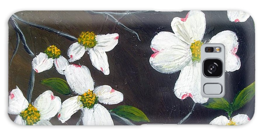 Dogwoods Galaxy Case featuring the painting Dogwoods by Tami Booher