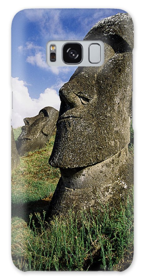 Easter Island Galaxy S8 Case featuring the photograph Easter Island Moai by Michele Burgess