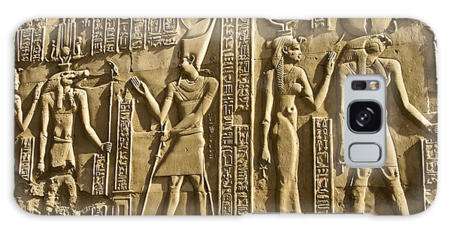 Egypt Galaxy S8 Case featuring the photograph Egyptian Temple Art by Michele Burgess