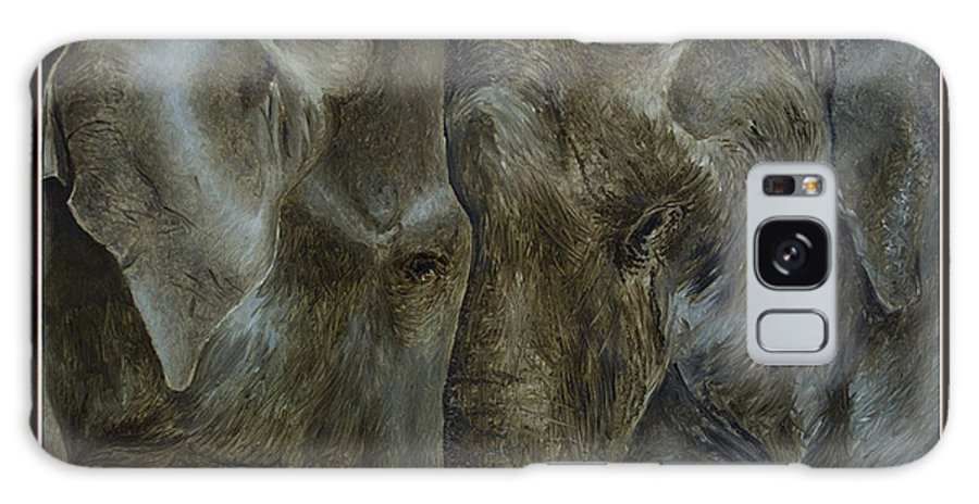 Elephant Galaxy S8 Case featuring the painting Elephant Love by Deepak Deshmukh