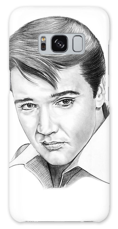 Portrait Galaxy S8 Case featuring the drawing Elvis Presley by Murphy Elliott