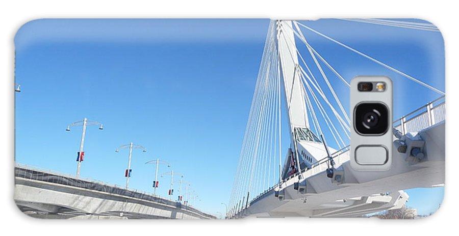 Bridge Galaxy S8 Case featuring the photograph Esplanade Riel by Ruth Kamenev