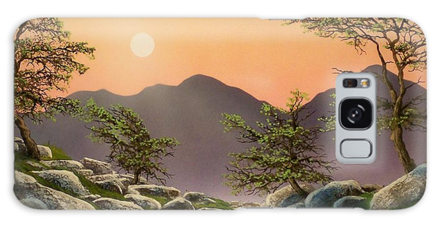 Evening Moonrise Galaxy S8 Case featuring the painting Evening Moonrise by Frank Wilson