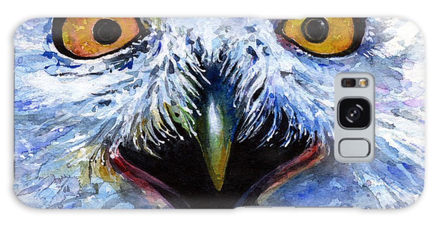Eye Galaxy Case featuring the painting Eyes Of Owls No. 15 by John D Benson
