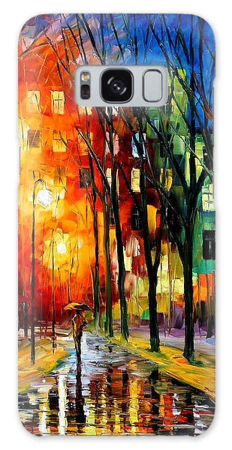 Afremov Galaxy S8 Case featuring the painting Farewell To Autumn by Leonid Afremov
