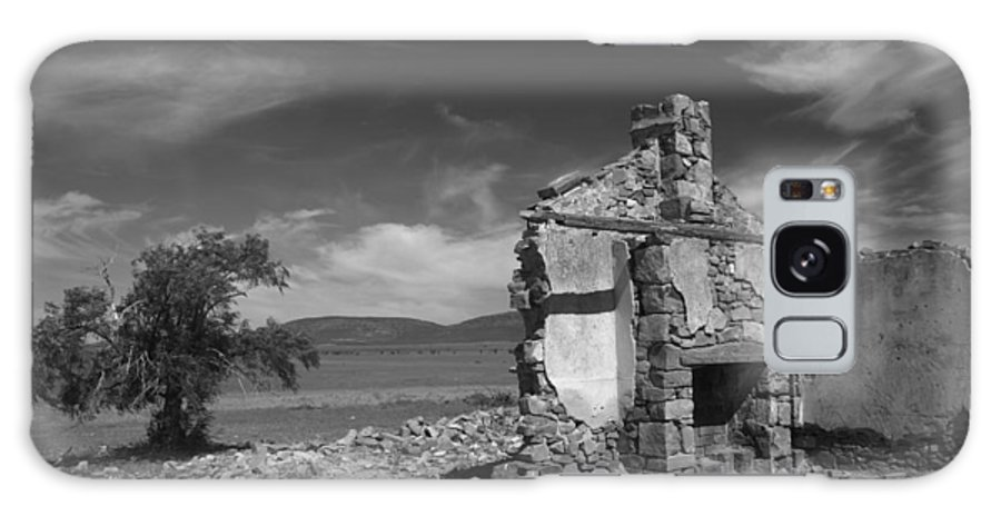 Cottage Galaxy Case featuring the photograph Farmhouse Cottage Ruin Flinders Ranges South Australia by Ralph A Ledergerber-Photography
