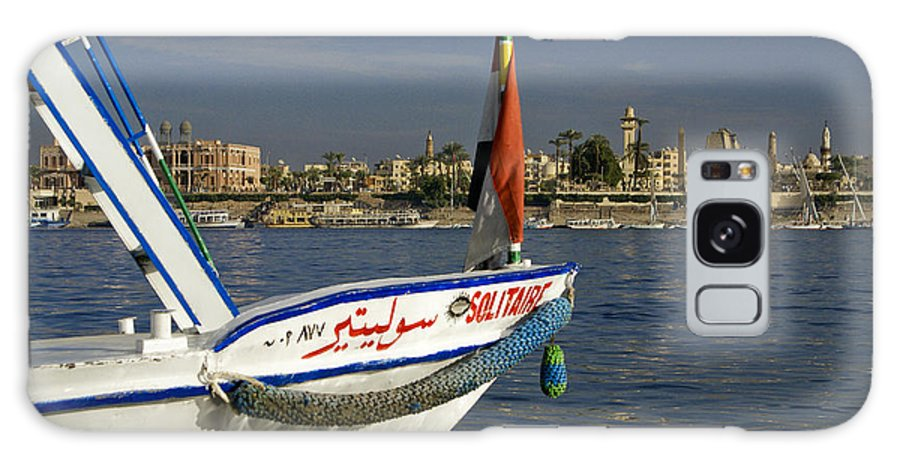 Egypt Galaxy S8 Case featuring the photograph Felucca On The Nile by Michele Burgess
