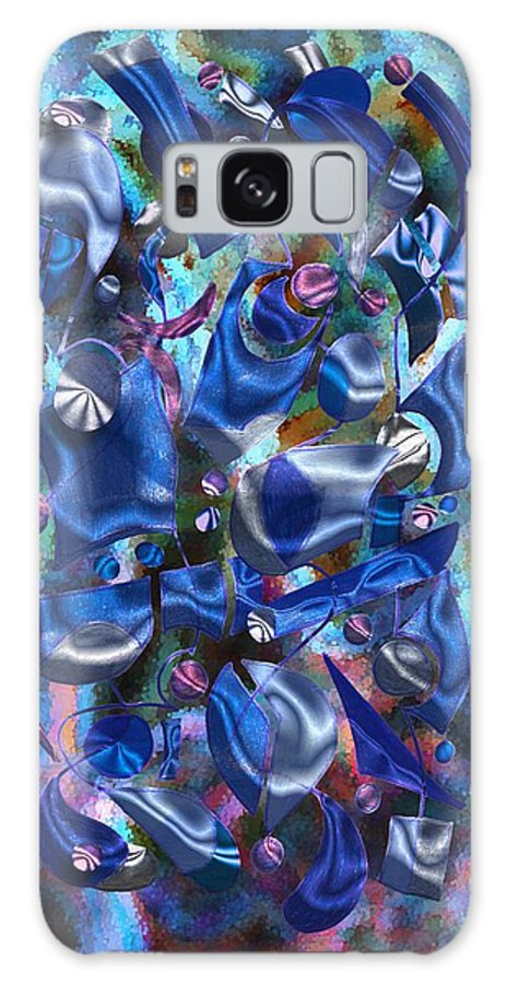 Abstract Galaxy S8 Case featuring the digital art Festive Joy by Mark Sellers