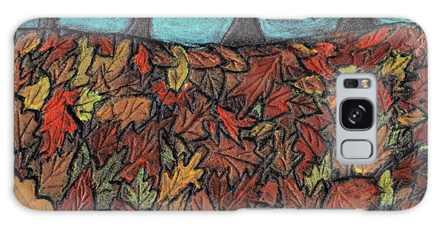 Leaves Galaxy S8 Case featuring the painting Finding Autumn Leaves by Wayne Potrafka