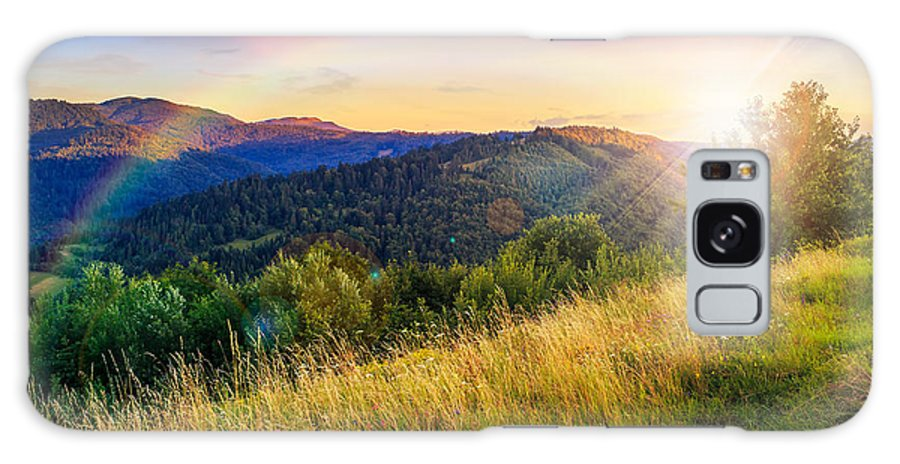 Mountain Galaxy S8 Case featuring the photograph First Beams In Highland by Michael Pelin