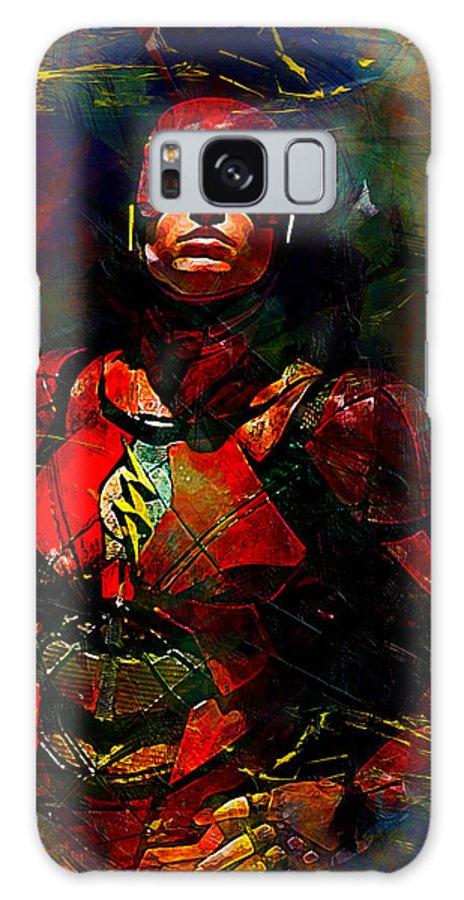 Batman Galaxy S8 Case featuring the digital art Flash by Anna J Davis