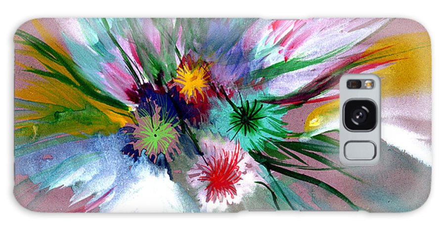 Flowers Galaxy S8 Case featuring the painting Flowers by Anil Nene