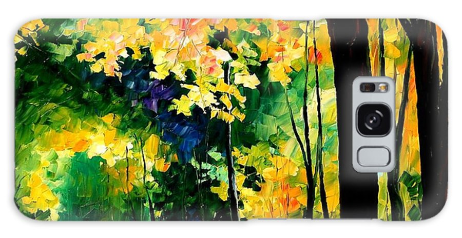 Landscape Galaxy S8 Case featuring the painting Forest by Leonid Afremov