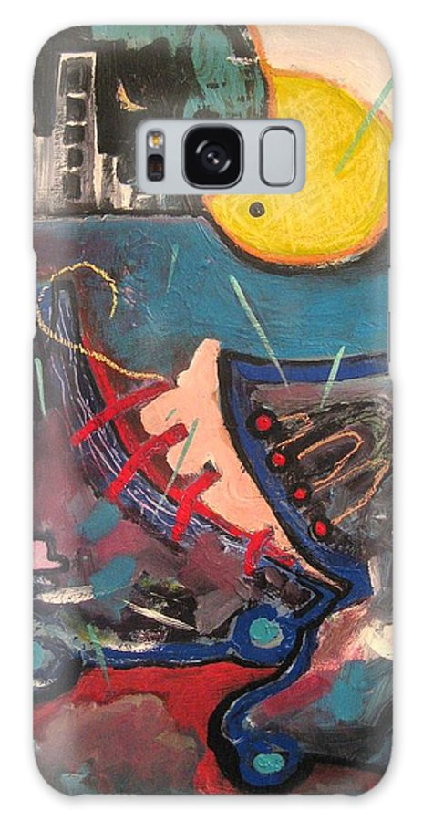 Abstract Paintings Galaxy S8 Case featuring the painting Forgotten Days by Seon-Jeong Kim