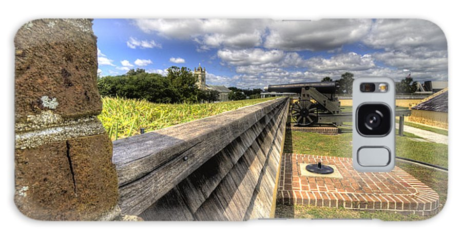 Fort Galaxy S8 Case featuring the photograph Fort Moultrie Cannon by Dustin K Ryan