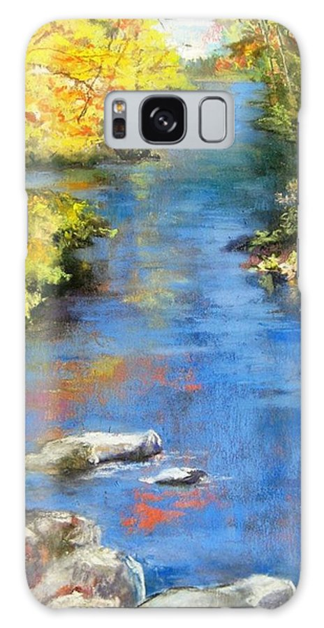 River Galaxy S8 Case featuring the painting From The Bridge by Mary lou Hamilton