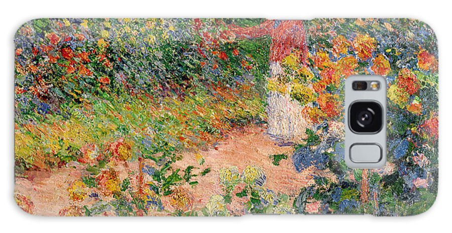 Garden Galaxy Case featuring the painting Garden at Giverny by Claude Monet