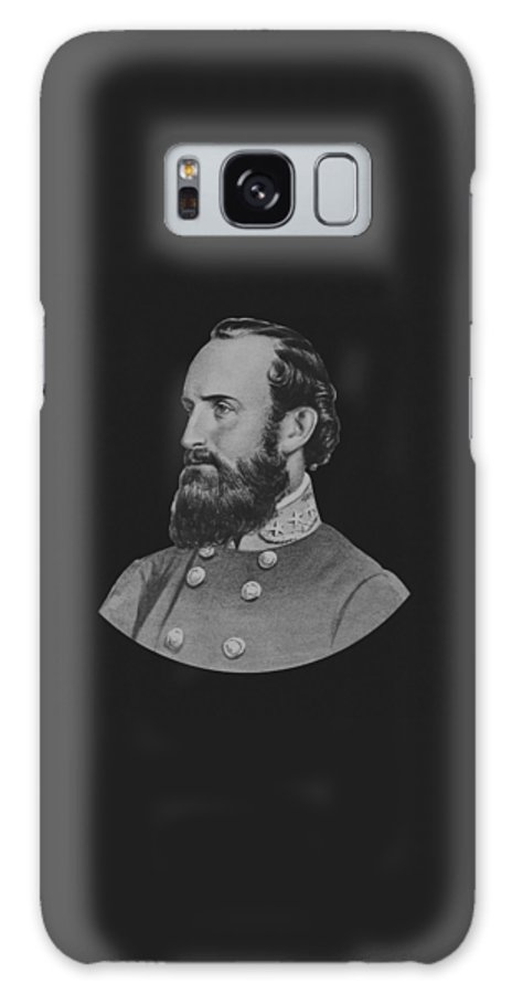 Stonewall Jackson Galaxy S8 Case featuring the painting General Stonewall Jackson - Five by War Is Hell Store