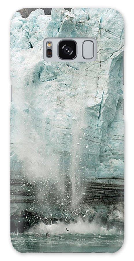 Glacier Calving Galaxy S8 Case featuring the photograph Glacier Calving 1a by Robert Shard