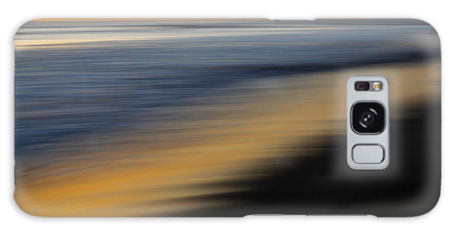 Golden Galaxy S8 Case featuring the photograph Golden Shoreline In La Jolla by Michael Sangiolo